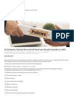 10 Company Policies Every Small Business Should Consider in 2019 - Valuable HR Blog Topics for Small Business Owners and HR Professionals