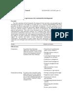 Principles of effective governance ECOSOC