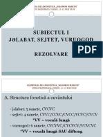 Subiectul I - Fonetica
