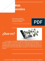 Paginas Web Transaccionales