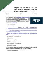 Ley N° 27626, Ley de intermediación laboral.docx