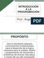 Introducción a La Programación - Presentación 2014