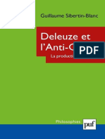 (Philosophies) Guillaume Sibertin-Blanc - Deleuze et l'Anti-Œdipe. La production du désir-Presses Universitaires de France (2010)