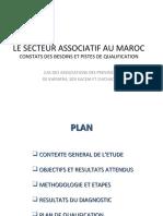 Le Secteur Associatif Au Maroc, Constacts Et Pistes de Qualifications