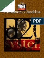 Collectors Checklist - D20 System