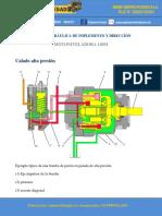 CALADO DE LA BOMBA DE IMPLEMENTOS Y DIRECCIÓN MOTONIVELADORA 140M