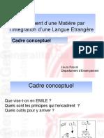 EMILE. Cadre Conceptuel.