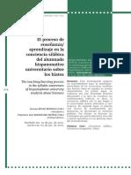 El proceso de enseñanza/ aprendizaje en la conciencia silábica del alumnado hispanonativo universitario sobre los hiatos