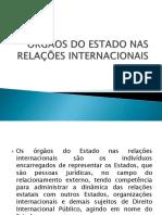 ÓRGÃOS DO ESTADO NAS RELAÇÕES INTERNACIONAIS.pptx
