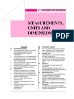 01-MEASUREMENTS UNITS AND DIMENSIONS