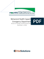 Emergency Department Behavioral Health Capacity Report