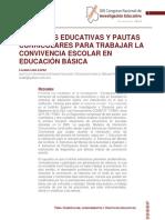 PRACTICAS EDUCATIVAS Y PAUTAS CURRICULARES PARA TRABAJAR LA CONVIVENCIA ESCOLAR EN EDUCACION BASICA