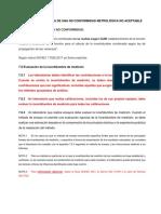 ANÁLISIS DE LA FORMA DE UNA NO CONFORMIDAD METROLÓGICA NO ACEPTABLE