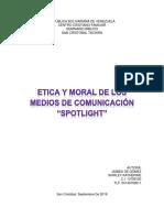 ETICA Y MORAL EN LOS MEDIOS DE COMUNICACION PELICULA SPOTLIGHT.docx