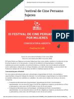 [Abierta] III Festival de Cine Peruano Hecho por Mujeres – DAFO