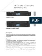 Adapter( Economic Rack Mount IP Terminal With Amplifier) T-7760T-77120T-77240T-77350T-77500