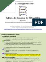 2.6 Estructura del ADN y el ARN (1)