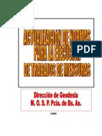 EJECUCIÓN DE TRABAJOS DE MENSURA