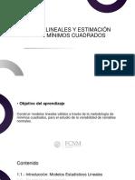 Modelos lineales y estimación mediante mínimos cuadrados