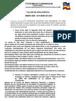 TALLER DE APOLOGÉTICA 777(1ER AÑO IBC 2016).docx