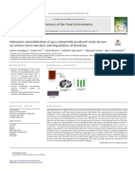 Adsorptive immobilization of agro-industrially produced crude laccase