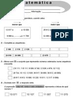Avaliação Mensal de Matemática