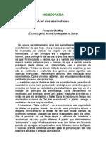 François Choffat, Dr - A Lei das assinaturas - homeopatia - saúde