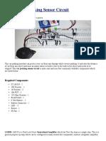 Reverse Car Parking Sensor Circuit