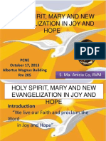 Holy Spirit, Mary and New Evangelization in Joy and Hope.pptx