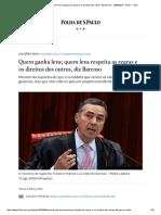 Folha - Poder - Quem ganha leva; quem leva respeita as regras e os direitos dos outros, diz Barroso - 26_09_2018