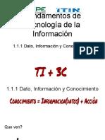 1.1.1 Dato, Información y Conocimiento