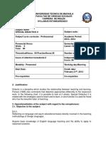 B. Syllabus Special Didactics II.docx