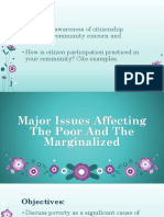 Major Issues Affecting The Poor And The Marginalized.pptx