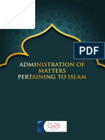 Administration of Matters Pertaining to Islam - G25 Malaysia