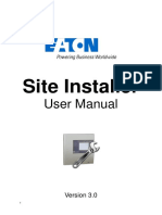 User Manual Fire Site Installer
