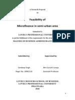 Feasibility of Microfinance in semi urban Area