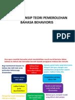 Prinsip-prinsip Teori Pemerolehan Bahasa Behavioris