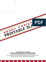 """Free """"Elfed"""" Printable Door Sign and Instructions"""