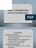 Topic 1 Intro to Arts in Education (i).pptx