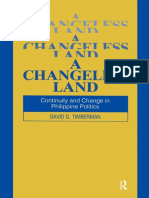 David G. Timberman - A Changeless Land_ Continuity and Change in Philippine Politics_ Continuity and Change in Philippine Politics-Routledge_Taylor and Francis (2016).pdf