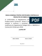 Reguli generale pentru certificarea controlului in fabrica
