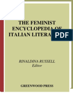 The Feminist Encyclopedia of Italian Literature