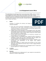 Local Engagement Liaison Officer