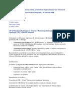 diagnostic hématurie