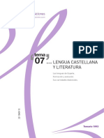 TEMA 7 OPOSICIONES LENGUA Y LITERATURA