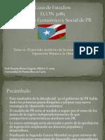 Guía de Estudios - periodo moderno de la economía de PR - Operacion Manos a la Obra