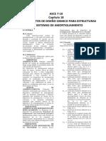 ASCE 7 - Capitulo 18 Estructuras con Amortiguadores