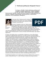 Adam Wielomski - Doktryna polityczna Hiszpanii Franco