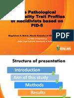 The Pathological Personality Trait Profiles of Recidivists Vietnam 19
