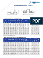 ASME-Flange-B16.5-Chart-150-LB